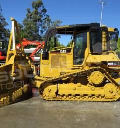 2281r caterpillar d5n xl bulldozer with stick rake full [ 1265 x 949 Pixel ]