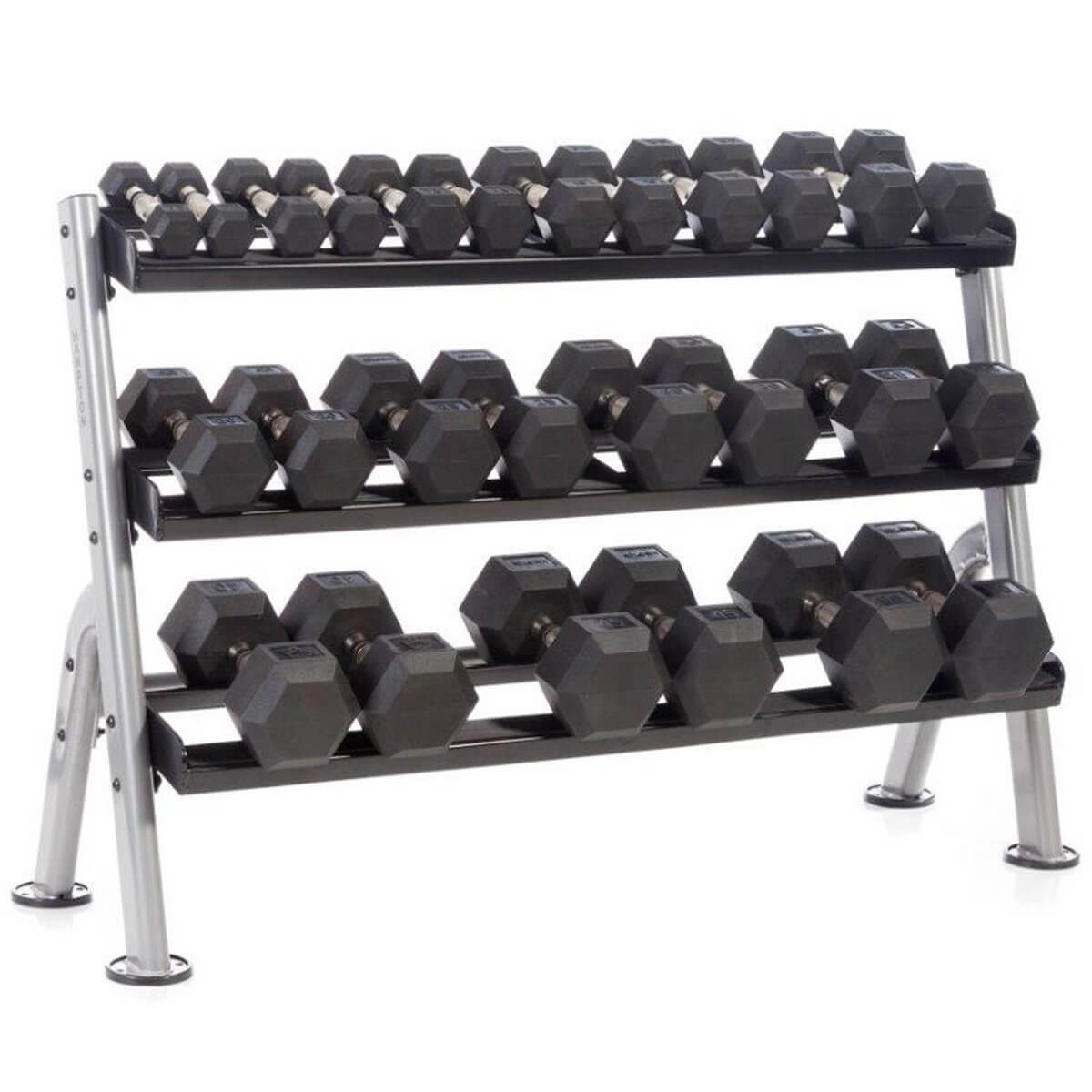 hampton 3 tier 52 horizontal dumbbell rack used gym equipment