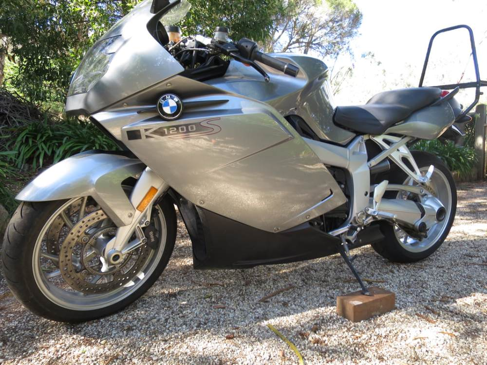 medium resolution of bmw k1200s 2005 excellent running engine gearbox and clutch road the bike for 25 km abs is not working esa aftermarket muffler good straight parts small