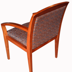 Floral Upholstered Chair Staples Ergonomic Review Office Accent Seating Arm W Exposed Wood