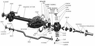 Used Front Axle Assembly