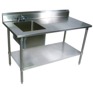 commericla sink with table