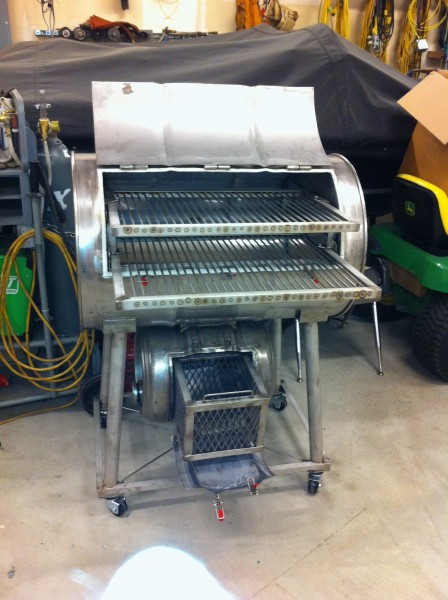 Stainless Steel Drum Smoker with 55 Gallon Drum
