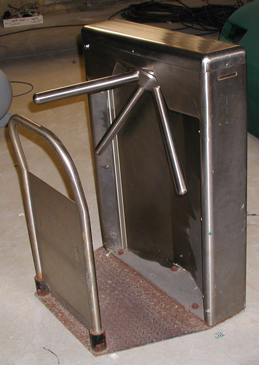 Used Security Turnstiles  Controlled Access Turnstile