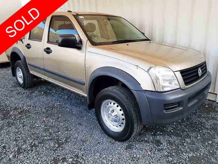 Dual Cab Ute 4x2 Manual Holden Rodeo 2005 Gold Used