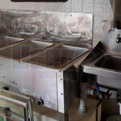 Mobile Kitchen Trailer Smudge Proof Stainless Steel Appliances Wells Cargo Rotisserie | ...
