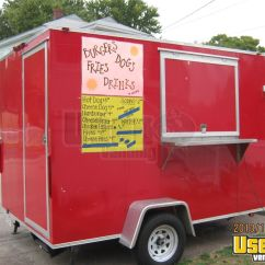 Cheap Kitchen Carts Sale Ceiling Fan Used 2012 Concession Trailer In Massachusetts For