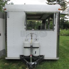 Small Kitchen Carts How Much Does A Restaurant Cost 8' X 16' Food Concession Trailer | For ...
