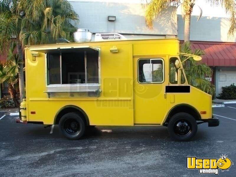 used kitchen equipment miami hood vent chevy food truck - 18' p30 stepvan