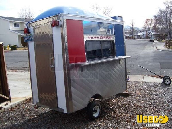compact kitchens outdoor texas one person concession trailer - hot dog cart used food