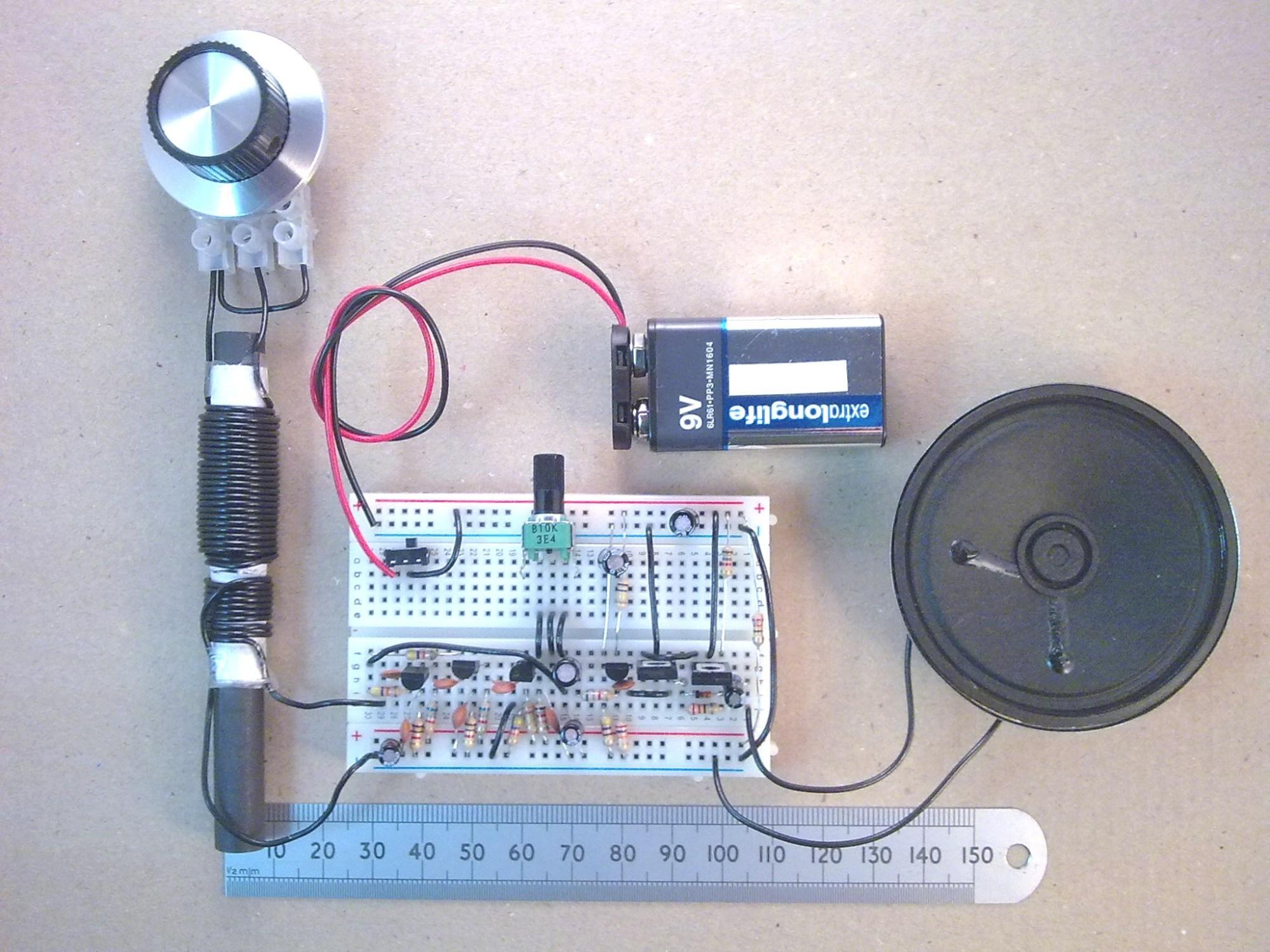 hight resolution of whole breadboard am radio kit built up