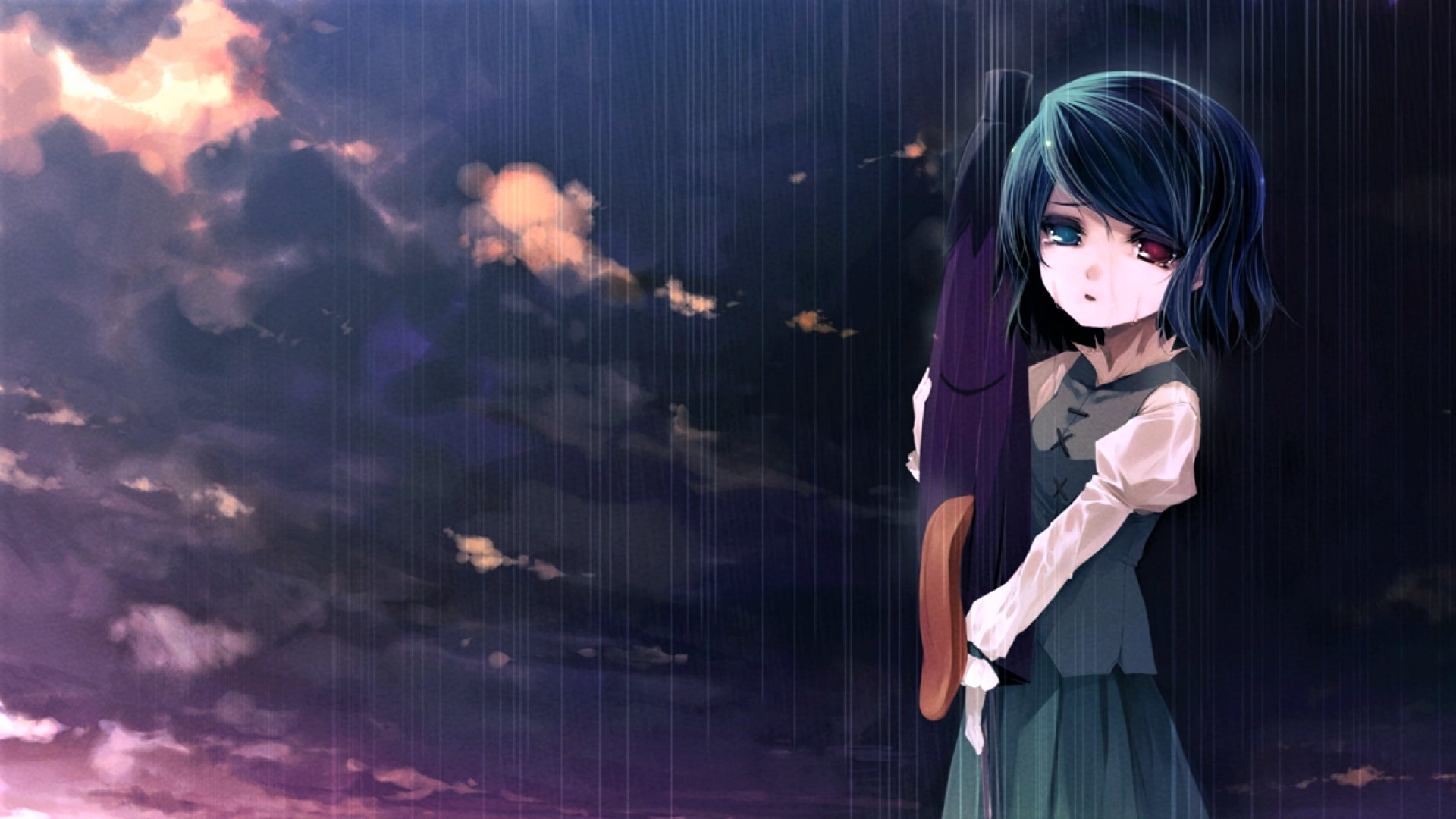 Wallpaper Of Lonely Girl In Rain Sad Anime Girl Wallpaper Sad Anime Boy Wallpaper
