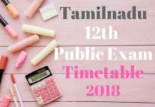 12th-Tamilnadu-time-table-2018