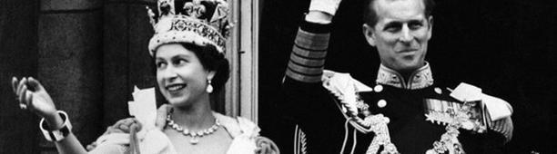 Leeks on Elizabeth' s coronation dress in 1953