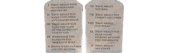 How many words do the Ten Commandments include?