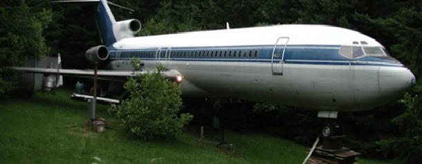 Man bought an airplane and turned it into his house