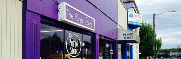 There's a store that sells only purple products