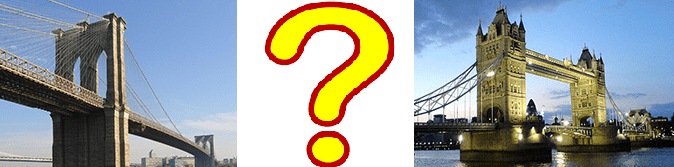 Is the Brooklyn Bridge in New York older than Tower Bridge in London?