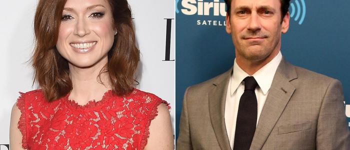 What's the connection between John Hamm and Ellie Kemper?