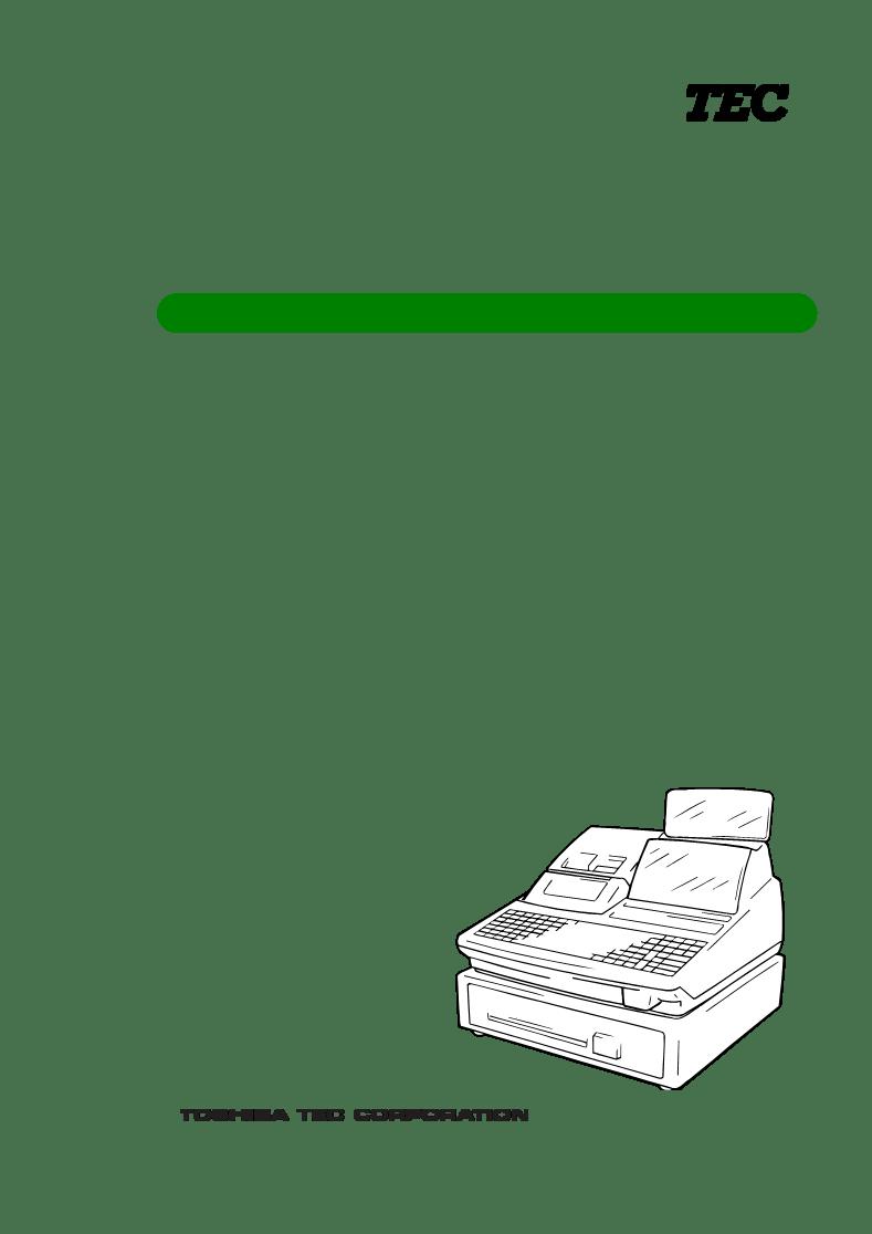 取扱説明書Toshiba TEC FS-1450-1 SERIES ー Toshiba TEC FS-1450-1