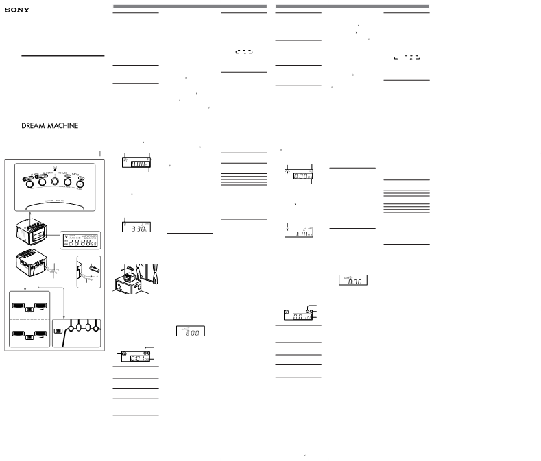 Gebruiksaanwijzing Sony Dream Machine ICF-C50
