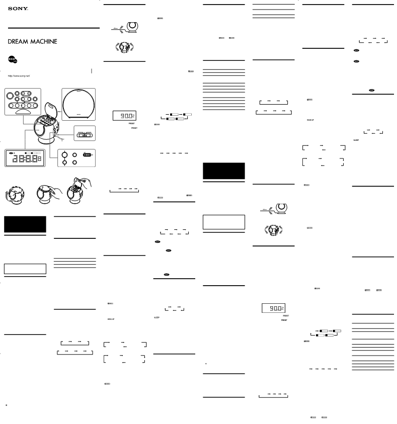 Anwendungsvorschrift Sony Dream Machine ICF-C763L