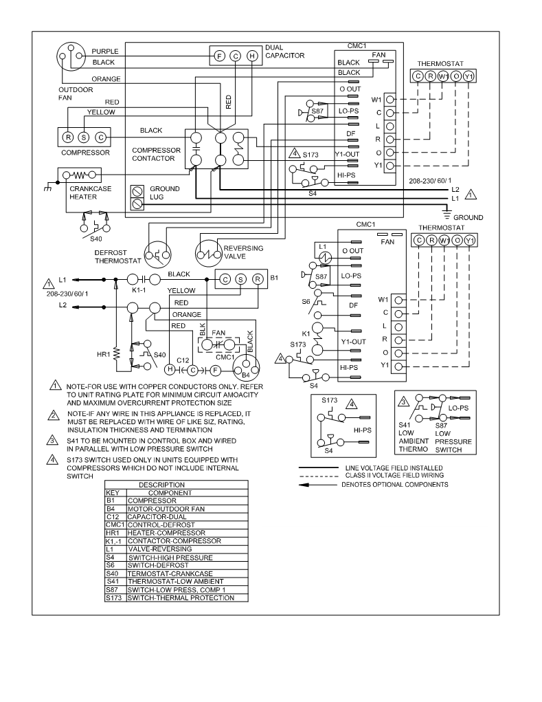 Thermostat For Heat Pump Wiring Diagram Central Air