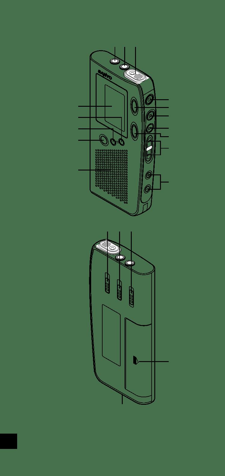 取扱説明書Sanyo ICR-B35 ー Sanyo ICR-B35に関する説明書、サービス説明書、設定および仕様