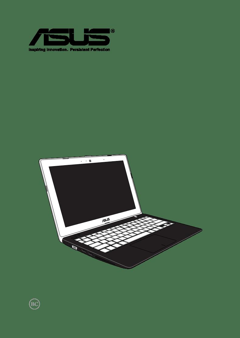 Manual de uso de Asus X200CA Notebook X200CA-DB01T