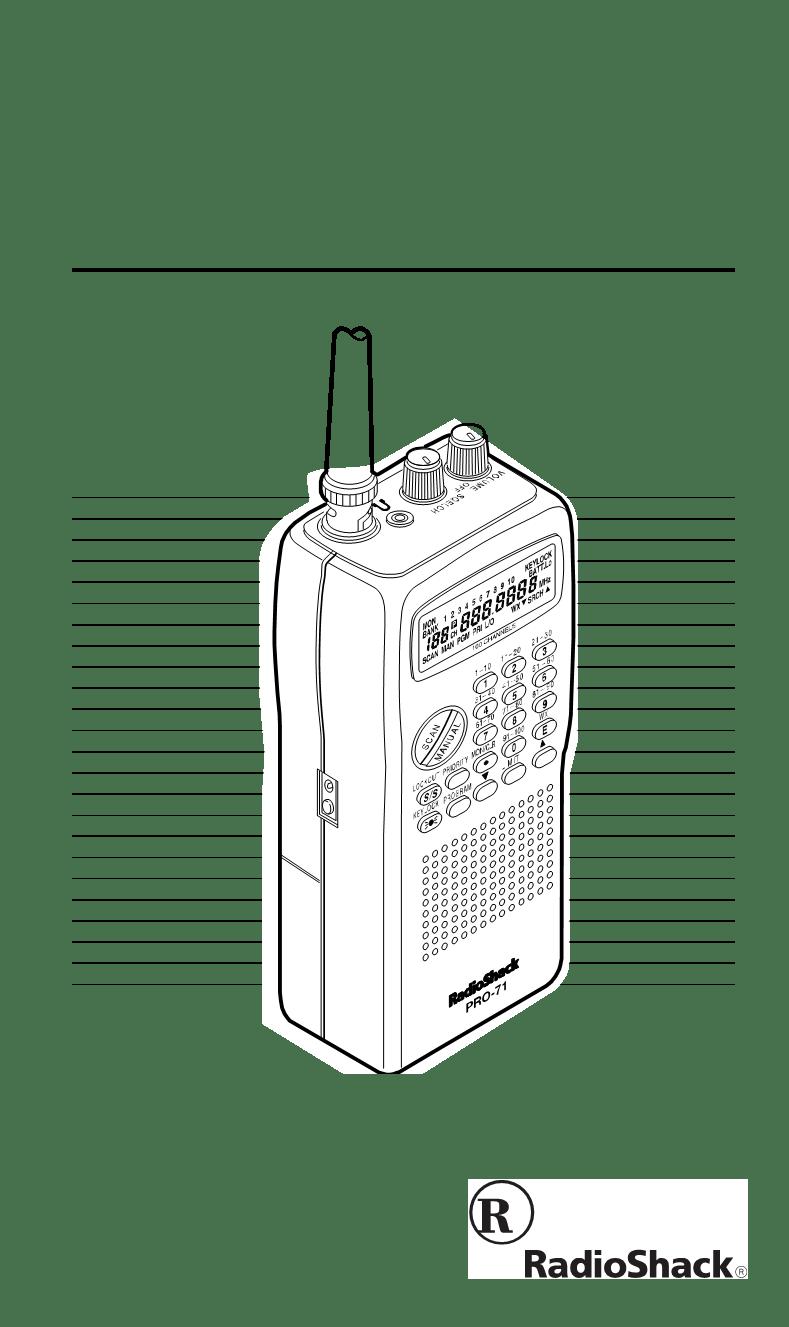Radio shack pro 25 scanner manual