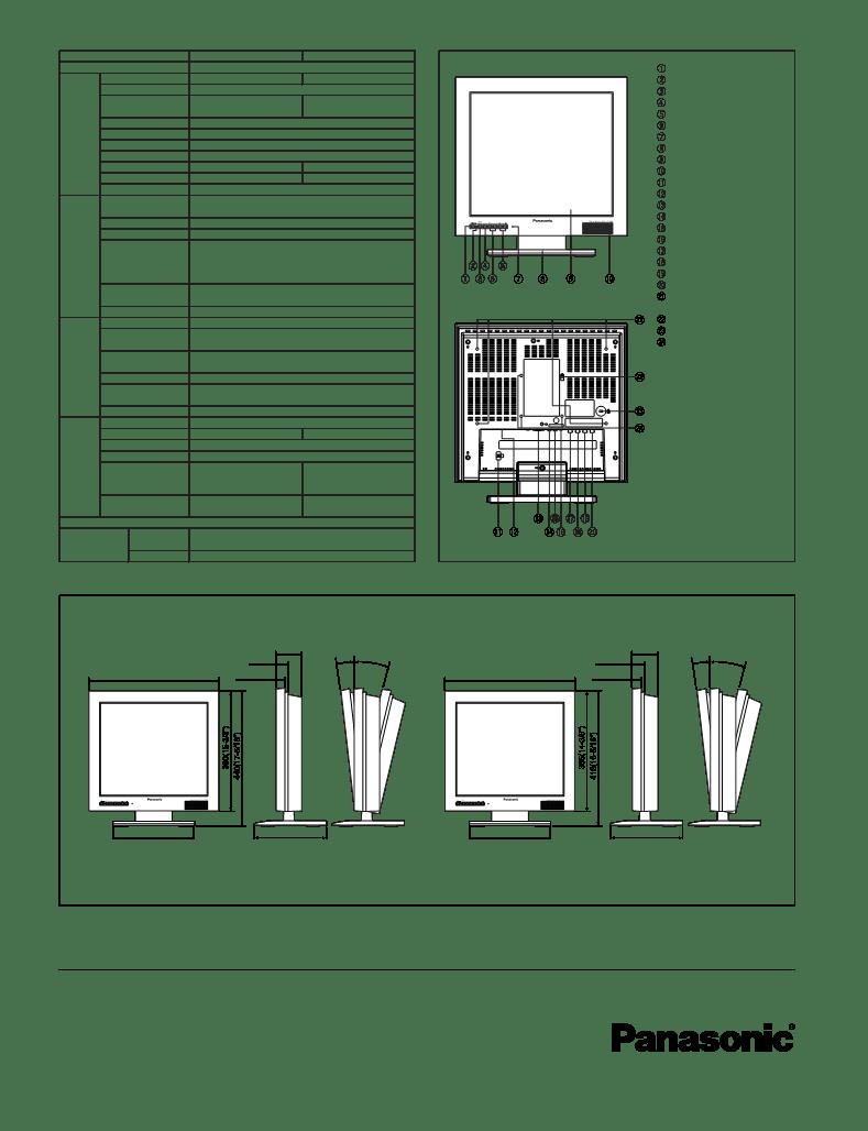 取扱説明書Panasonic WV-LC1900 ー Panasonic WV-LC1900に関する説明書、サービス