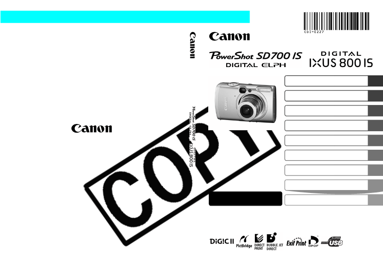 Anwendungsvorschrift Canon PowerShot SD700 IS