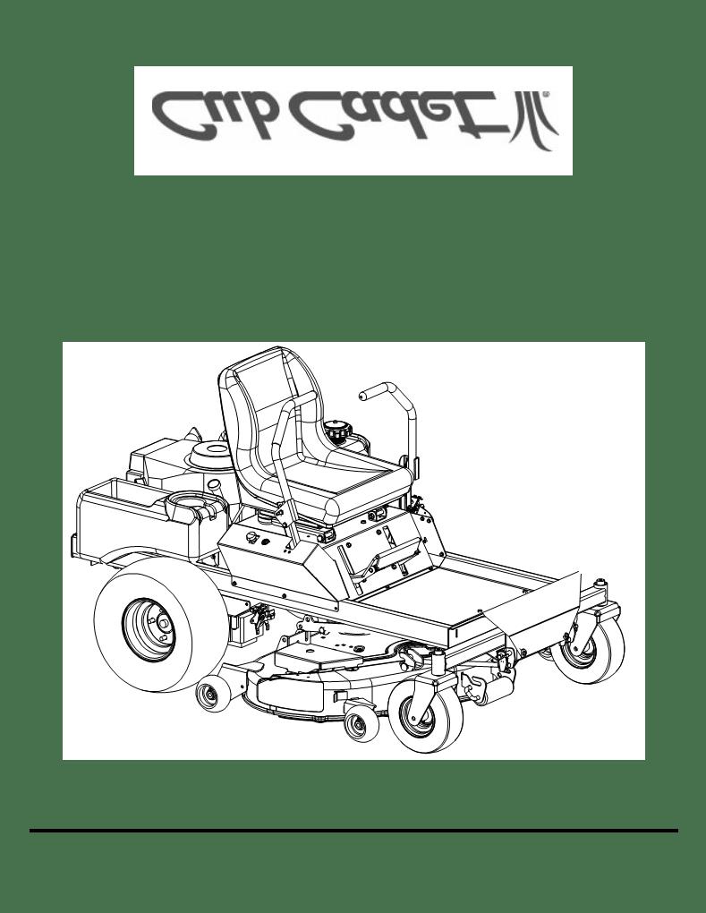 Anwendungsvorschrift Cub Cadet 53AA5D2L100