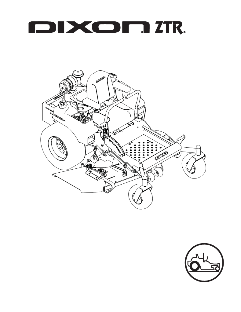 Mode d'emploi Dixon Lawn Mower 30 KOH/968999627 GRIZZLY 72