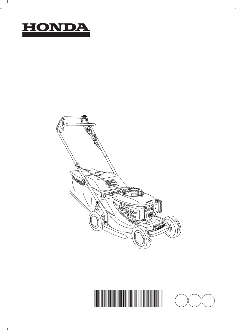 Mode d'emploi Honda Power Equipment Lawn Mower HRB425C