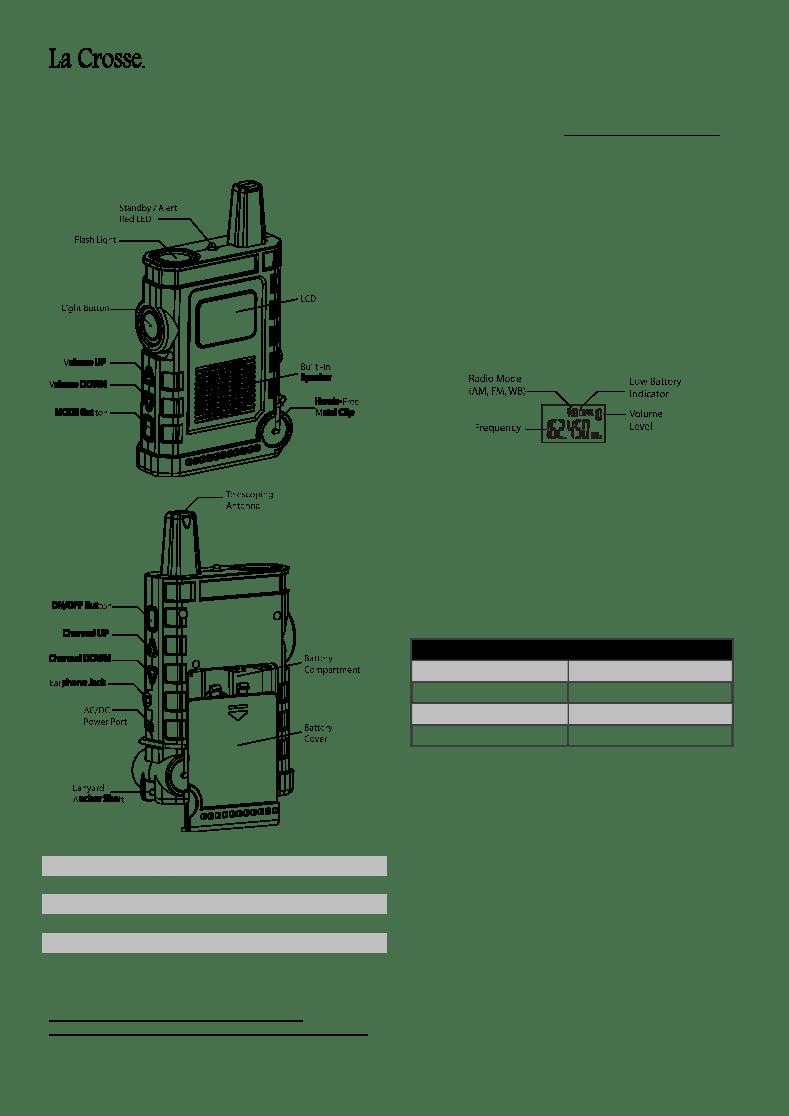 User manual for La Crosse Technology Noaa Super Sport