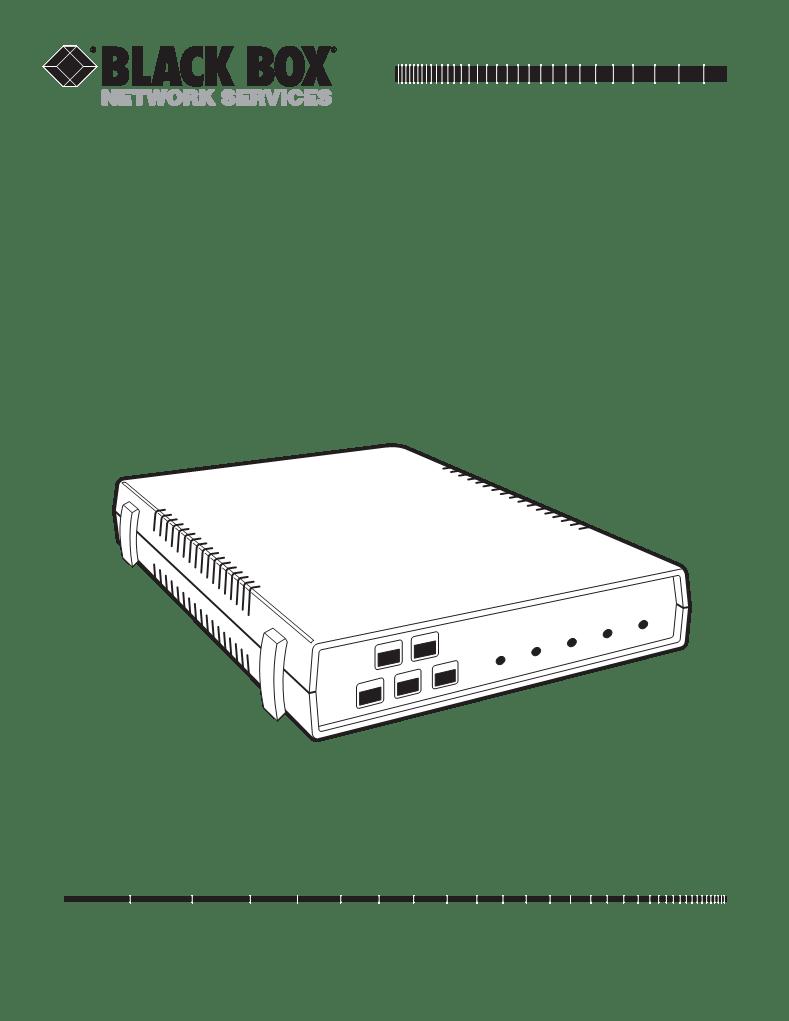 Mode d'emploi Black Box Protocol Converter PQ PCA35AE-R2