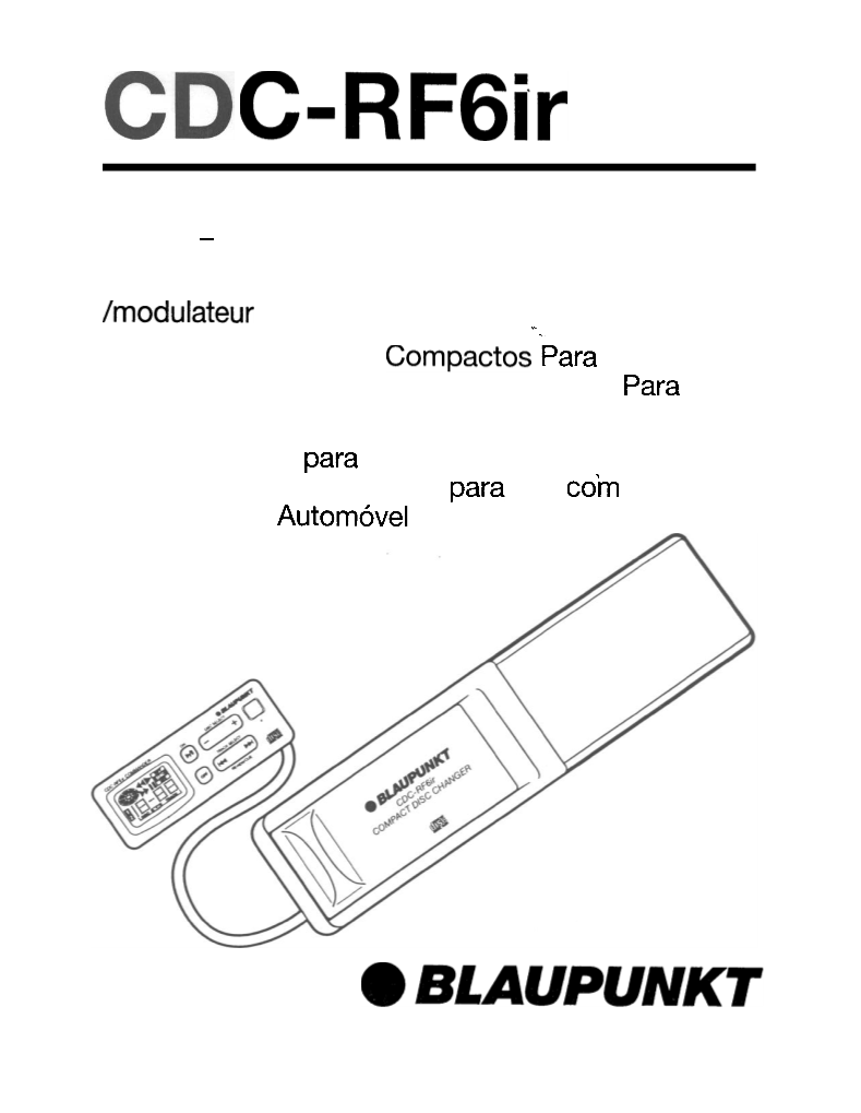 Manual de uso de Blaupunkt Stereo System CDC-RF6IR