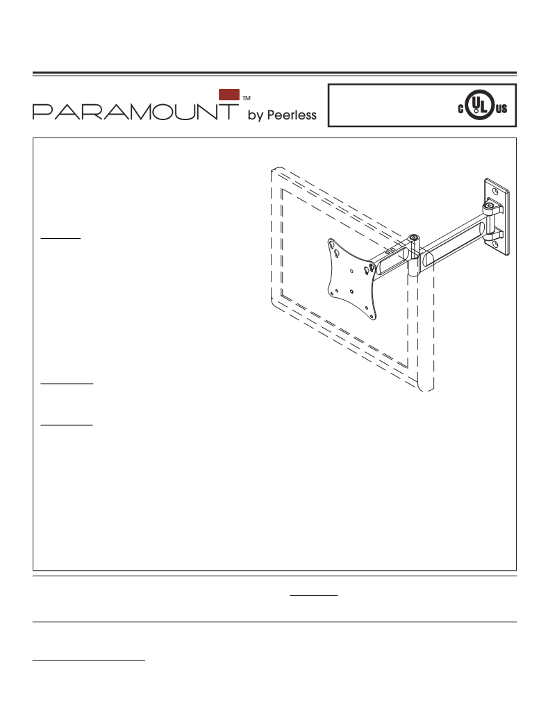Manual de uso de Peerless Industries Peerless PARAMOUNT