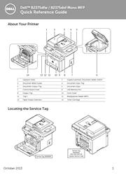 Dell B2375dfw, B2375dnf Mono Multifunction Printer Quick