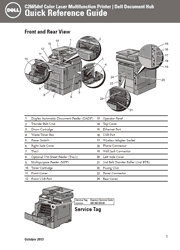 Dell C2665dnf Color Laser Printer Quick Reference Guide