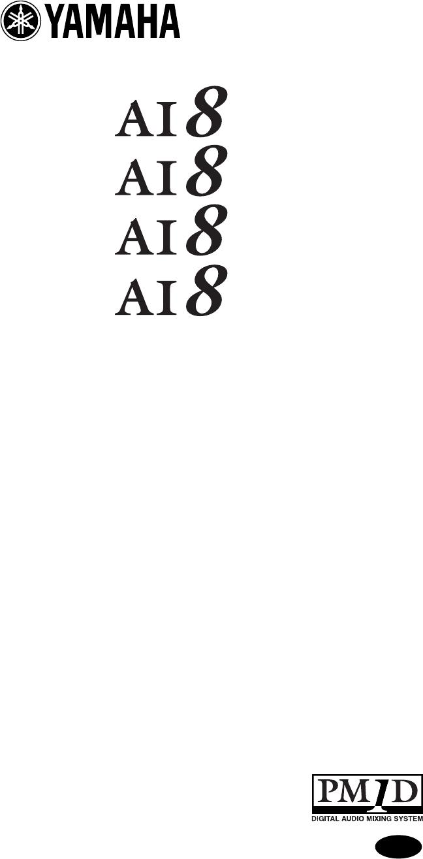 Yamaha AI8 user manual (8 pages)