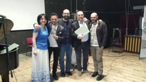Da sinistra, Anna Izzo, Enzo Campagnoli, Luigi Riccio, Pietro Condorelli, Luigi Pignalosa