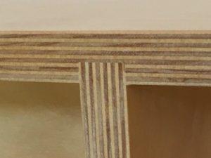 Floating shelf joinery detail