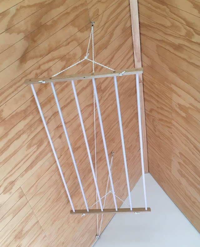 wooden pulley drying rack