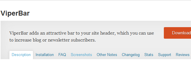 Viper Bar WordPress notification bar plugin