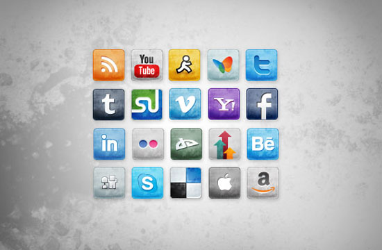 free Social Media Icons set : cool social media icons