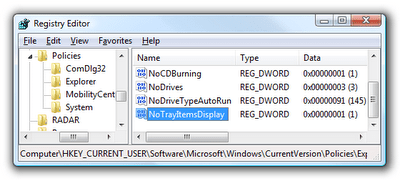 Disable System Tray On Windows
