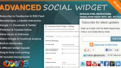Advanced Social Widget For WordPress