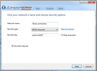Create Wireless network
